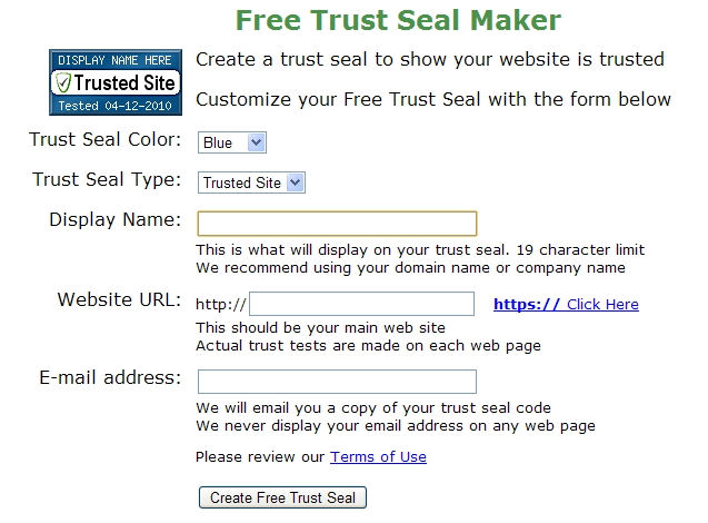 Screenshot af Free Trust Seal Maker til Mac