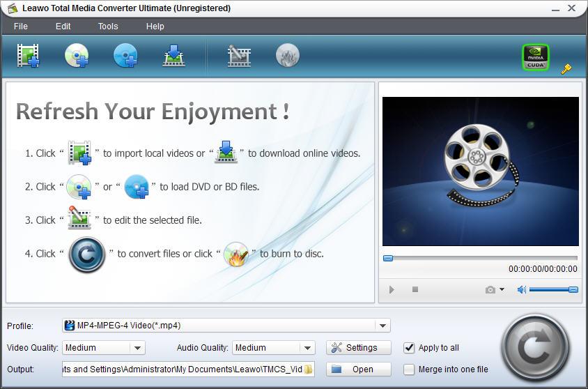 Screenshot af Leawo Total Media Converter Ultimate