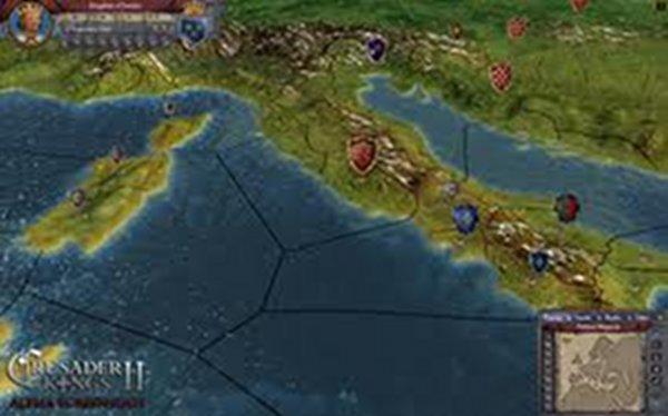 Screenshot af Crusader Kings