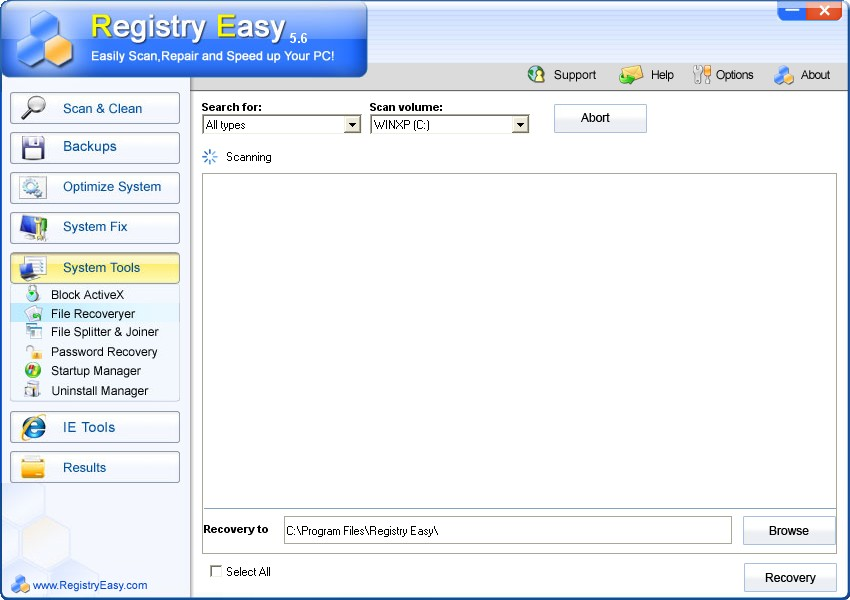 Screenshot af Registry Easy