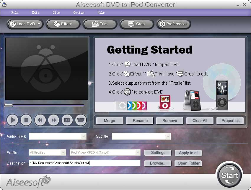 Screenshot af Aiseesoft DVD to iPad Converter
