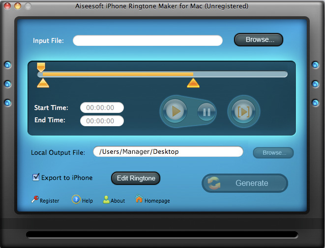 Screenshot af Aiseesoft iPhone Ringtone Maker
