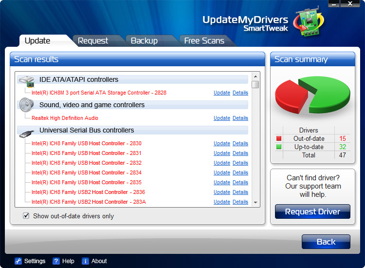 Screenshot af UpdateMyDrivers