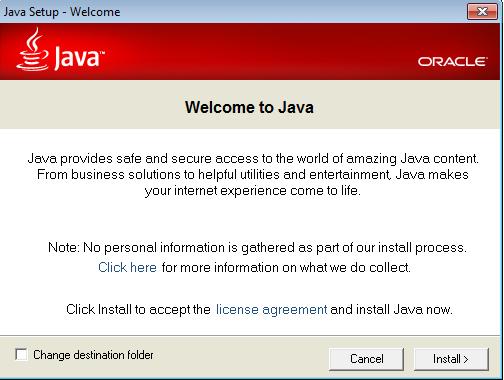 Screenshot af Java til Mac