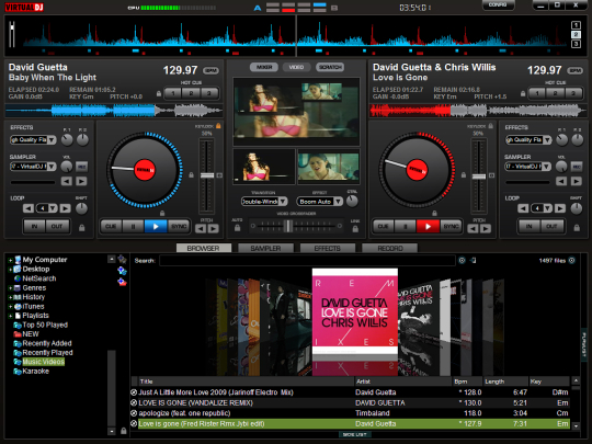 Screenshot af VirtualDJ Home til Mac