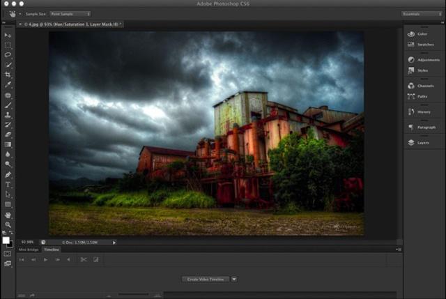 Screenshot af Adobe Photoshop til Mac