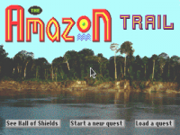 Screenshot af The Amazon Trail