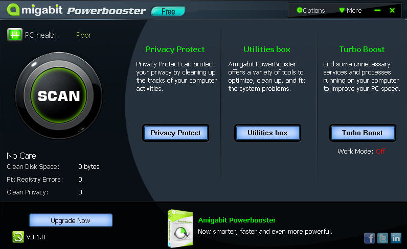 Screenshot af Amigabit PowerBooster