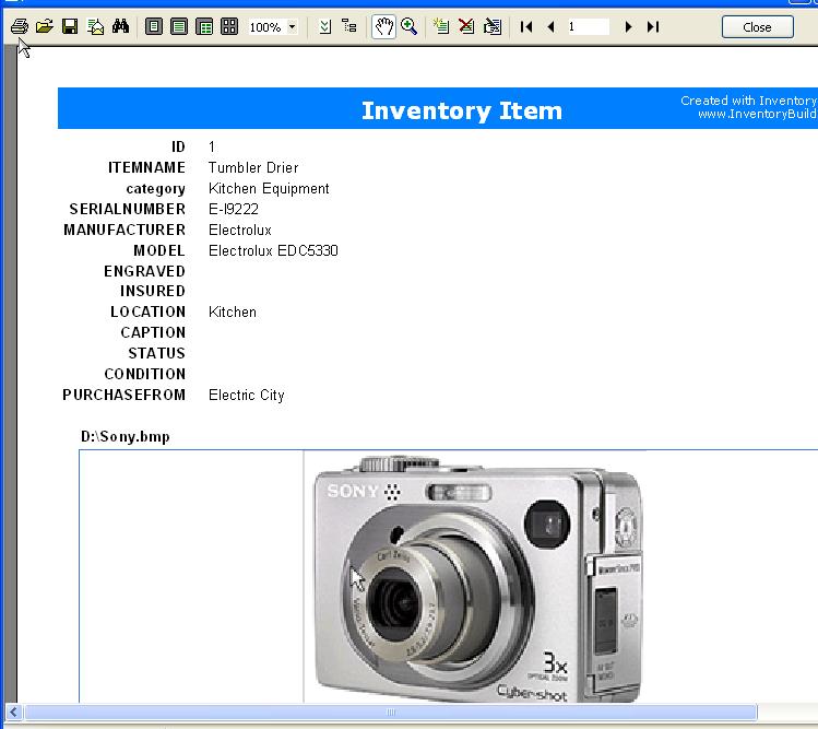 Screenshot af InventoryBuilder