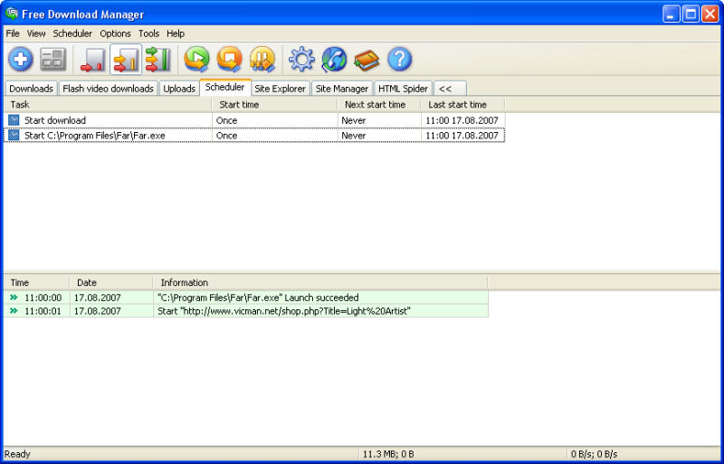 Screenshot af Free Download Manager