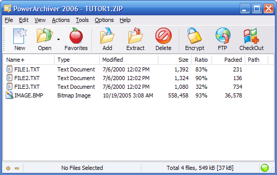 Screenshot af PowerArchiver