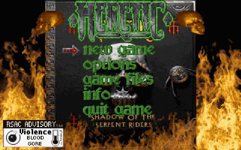 Screenshot af Heretic: Shadow of the Serpent Riders