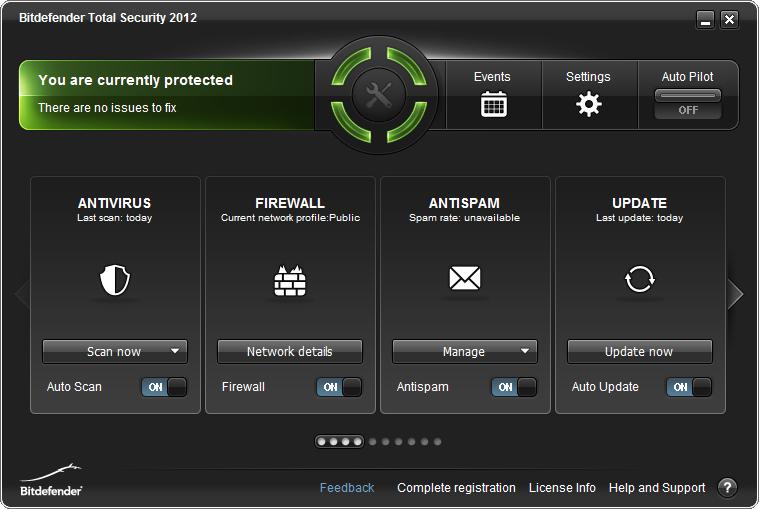 Screenshot af BitDefender AntiVirus Plus